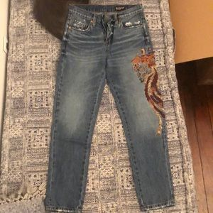 BLANCNYC embroidered jeans